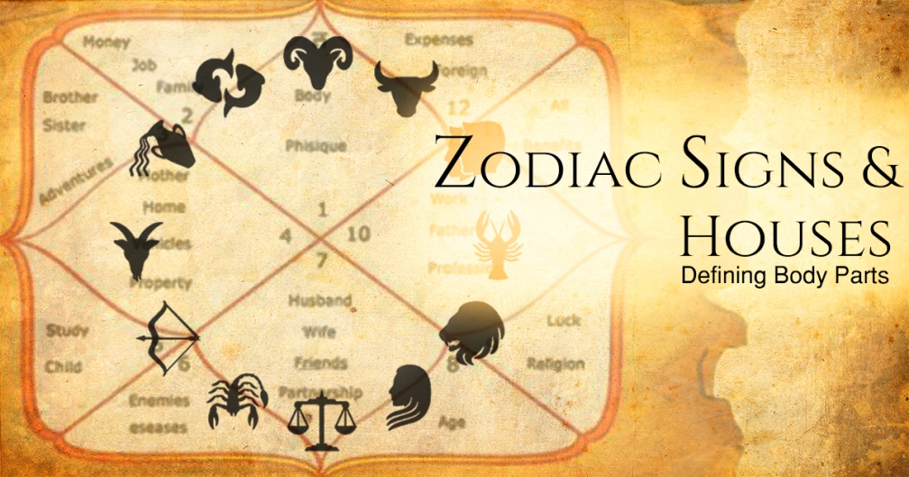 Health Astrology and Zodiac Signs Defining Body Parts | Akashvaani com